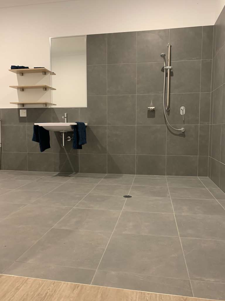 ndis bathroom after cleaning